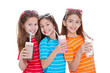 children drinking milk drinks
