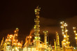 Lights of oil refinery near Halifax, Nova Scotia