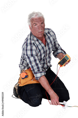 Technician who took an electrical shock
