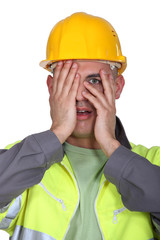 Tradesman afraid to look