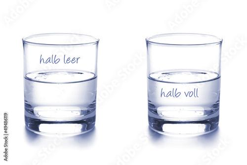 Leinwandbild Motiv Optimist und Pessimist