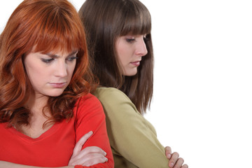 Women angry with each other