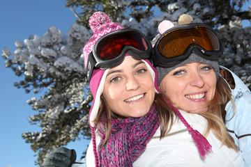 Two ski friends