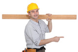 Carpenter pointing