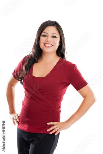 Confident Hispanic woman portrait