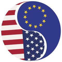 Symbol for the proposed Free Trade Zone USA-EU