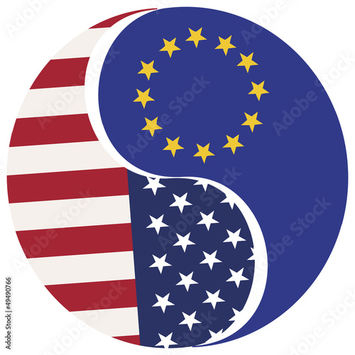 Symbol for the proposed Free Trade Zone USA-EU