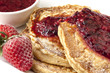 Buckwheat Pancakes with Berry Coulis