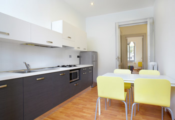 Modern kitchen in new apartment