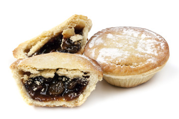 Mince Pies Isolated