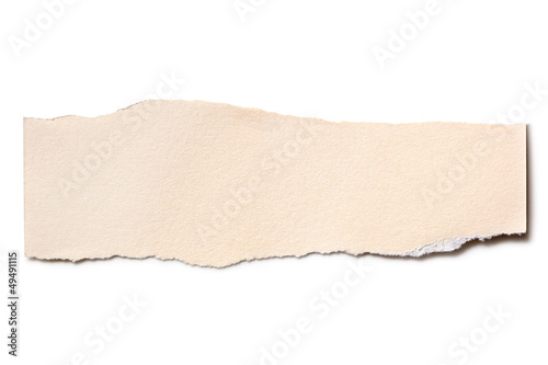 Torn Beige Paper Isolated