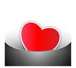 lovely red heart shape