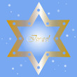 Israel - Vector background with golden star of David