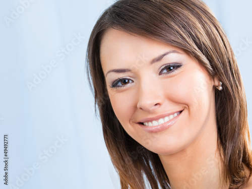 Close up portrait of beautiful woman