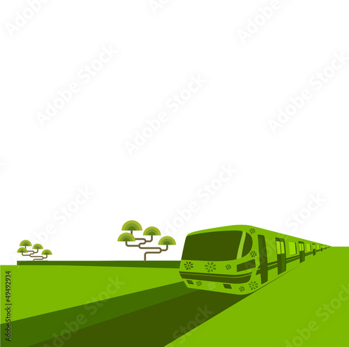 Green vector train.