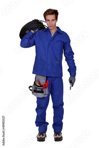 Mechanic isolated on white background