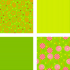 set of backgrounds for christmas, vector illustration