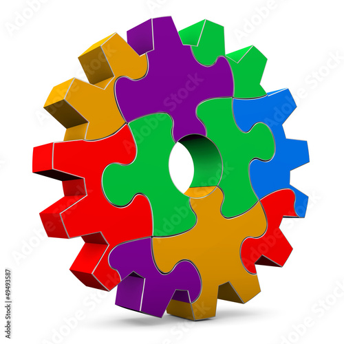 Colorful Puzzle Gear Wheel