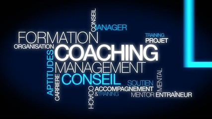 Coaching formation conseil management nuage de mots video