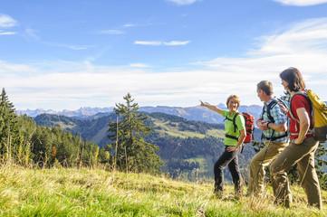 Alpenpanorama beim Wandern