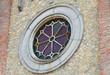 Rose window. Pellegrino Parmense. Emilia-Romagna. Italy.