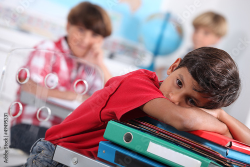 Child bored at school