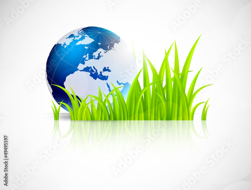 Background with grass and earth