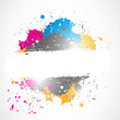 bright splash grunge design
