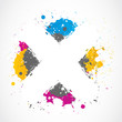 colorful splatter grunge concept
