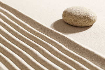 quietness and tranquillity on sand