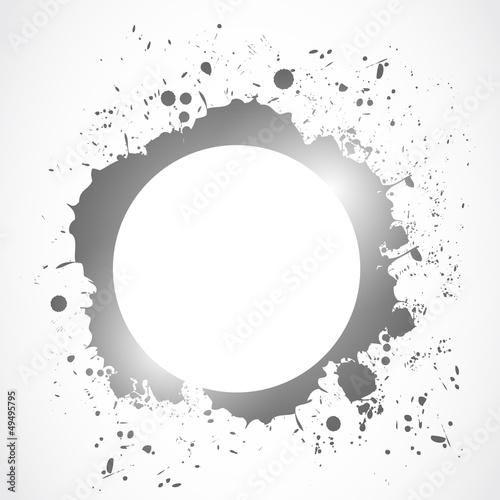 bright ink splash circle design