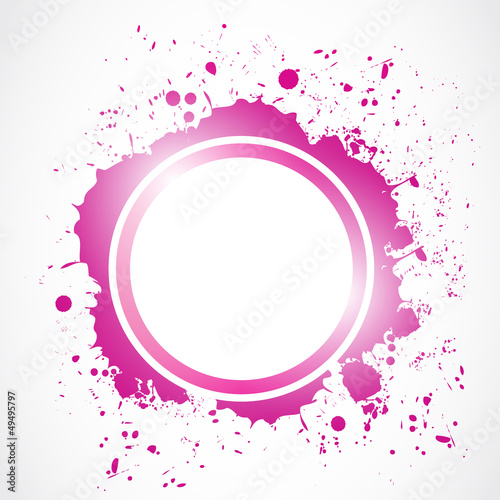 abstract circle grunge splash