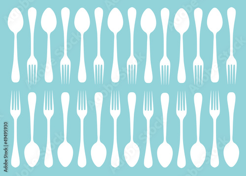 silhouettes of spoons and forks