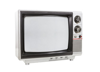Dirty Old Portable Television Isolated