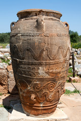 Minoan Pithos, Palace of Malia, archaeological site - Crete
