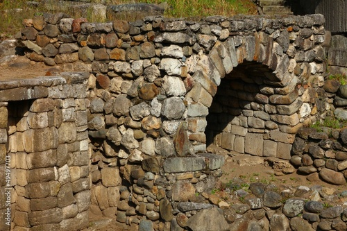 Traditional stone Inca oven.