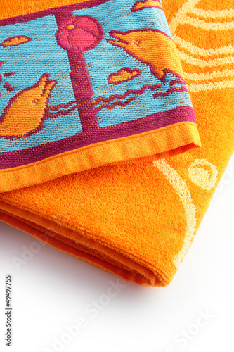 Neatly folder beach towels