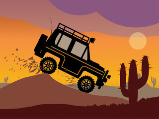 Off-road vehicle, vector illustration