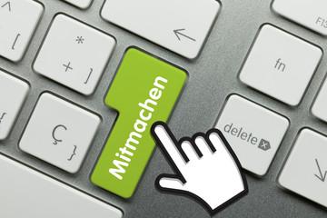 Mitmachen Tastatur Finger