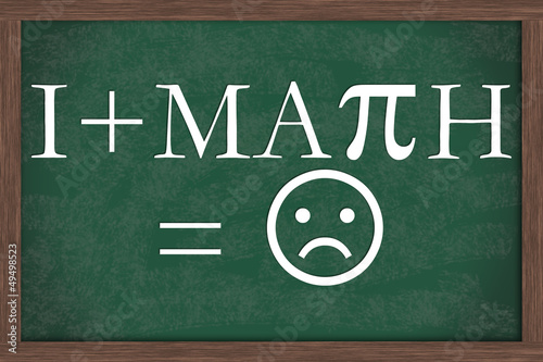I Dislike Math Equation Chalkboard