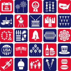 4th July icons