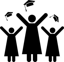 Pictogram of graduation