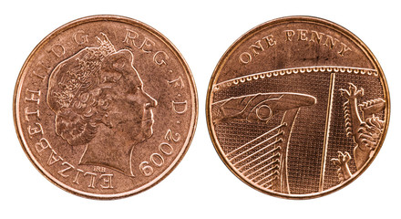 Head and tail of British Penny