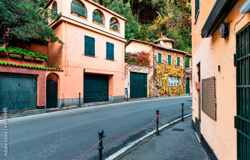 Typical homes in Italian village