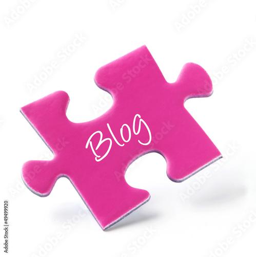 Pink Puzzle Piece - Blog