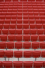 Empty rows of stadium seats