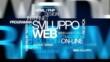 Sviluppo Web soluzioni on-line nuvola di etichette animazione
