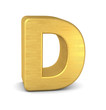 buchstabe letter D gold vertikal