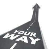 Fototapety Your Way Road Arrow Direction Moving Forward