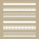 Vector Lacy Ribbons
